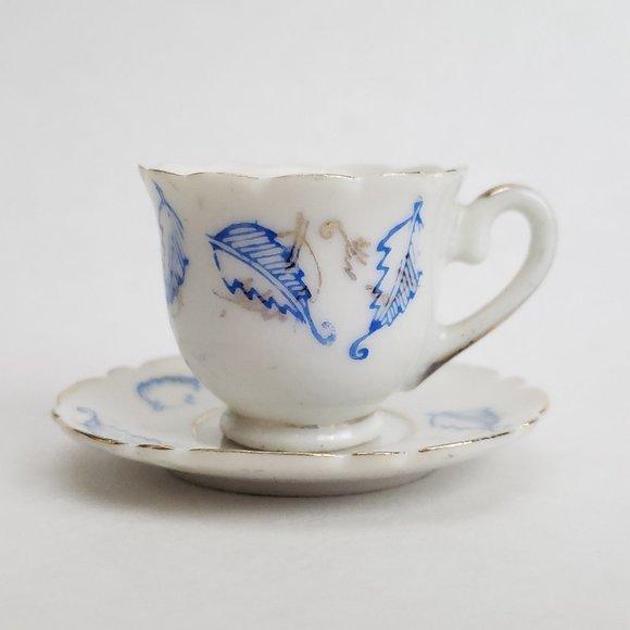 Vintage Miniature Tea Cup & Saucer Porcelain Japan